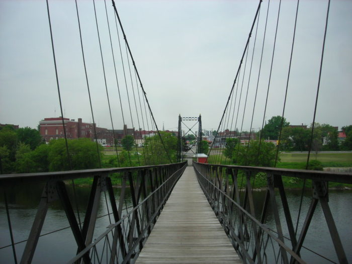 5. Come inland to walk in the footsteps of Waterville's manufacturing workers on Two Cent Bridge at Head of Falls Park.