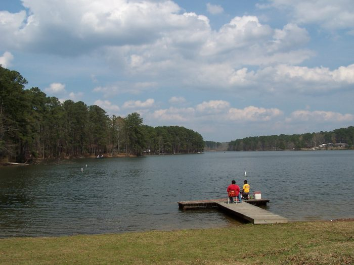 The lake is the perfect place to spend the day fishing. You can also go boating and swimming in Shadow Lake.
