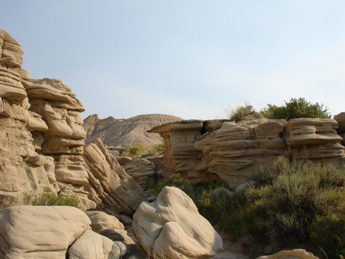 6. ...to the bizarre rock formations at Toadstool Geologic Park.
