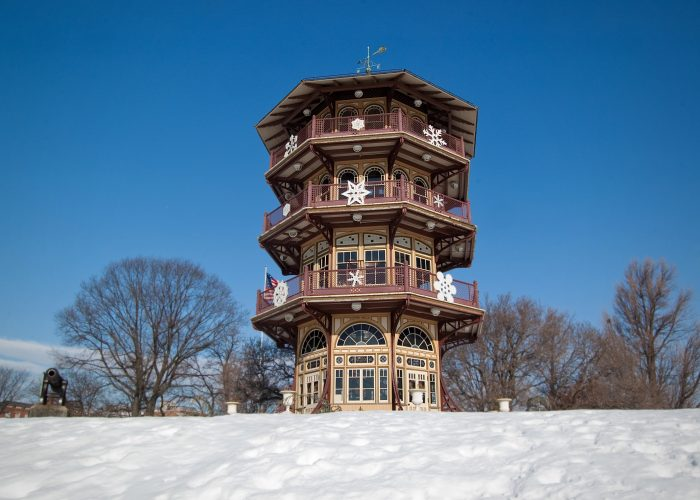 The Pagoda is also decorated for special occasions including holidays...