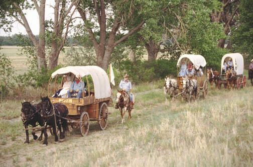 14. Take a ride in a covered wagon.