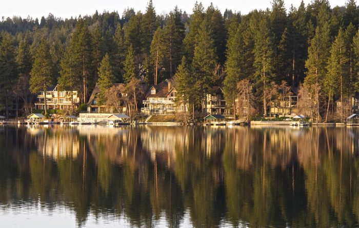 3. Sunrise on Lake Arrowhead is about as breathtaking as it gets. The stillness of the lake in the early morning is as smooth as a sheet of glass.
