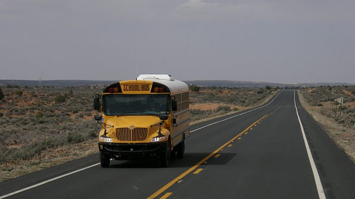 3. Waiting at the bus stop didn't always mean just walking to the end of the block. If you lived in rural Arizona, it meant trekking a mile (or so) to the bus stop to drive you miles to school.