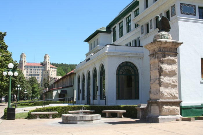 Bathhouse Row is as historic as it is picturesque.