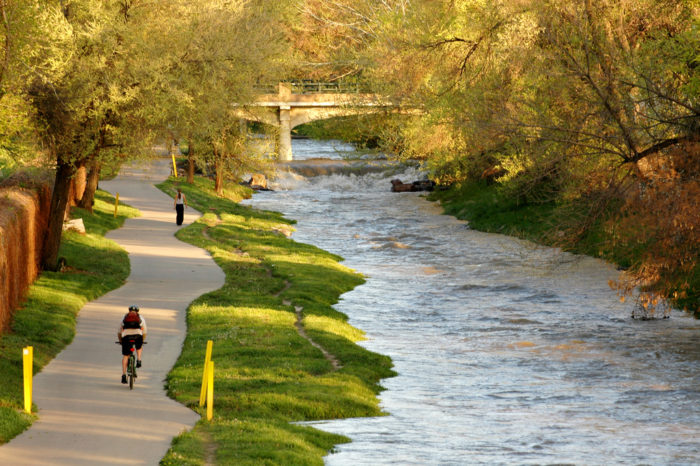2. Take a ride on the Cherry Creek Trail.