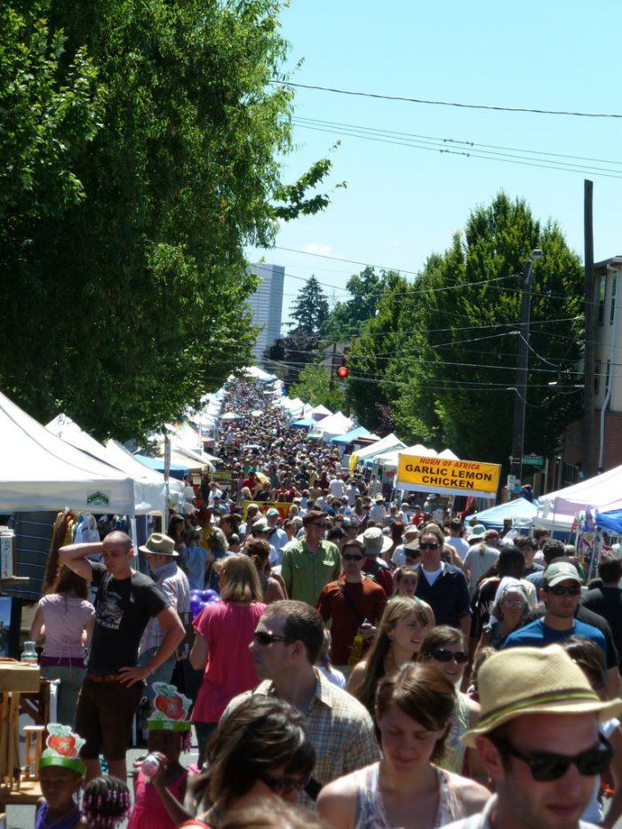 11. Attend a street fair.