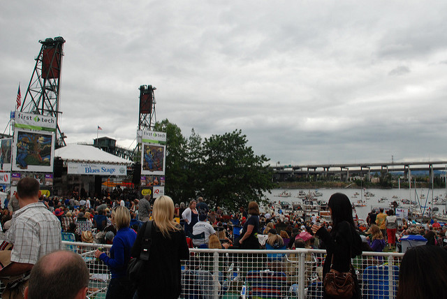 5. Listen to music on the waterfront.