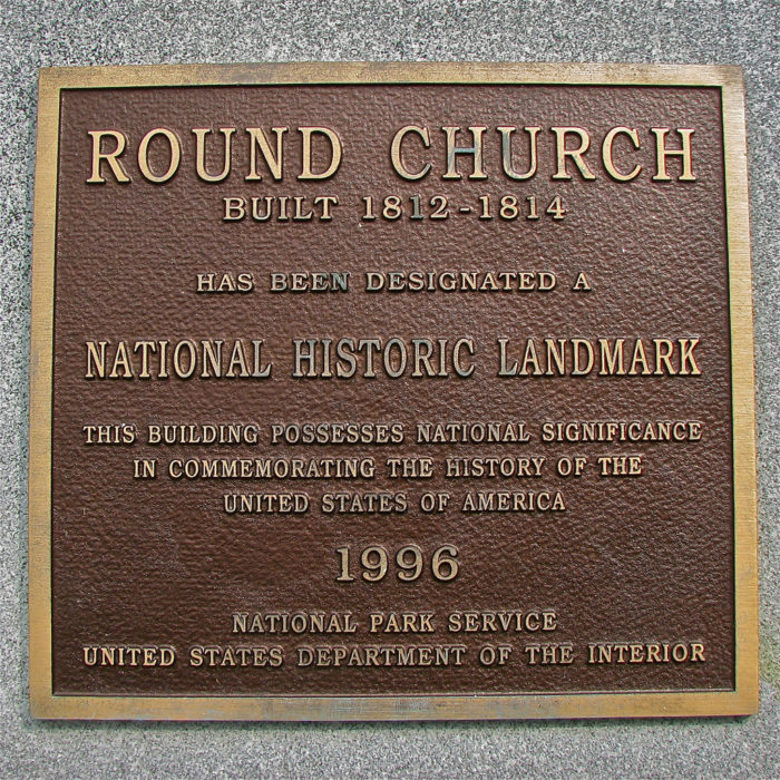 The Old Round Church remains as one of the only examples of a church structure built in this design in the country.
