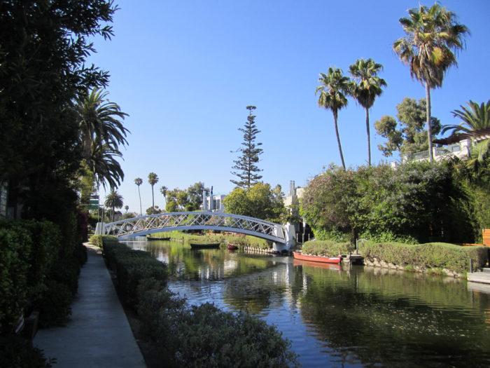 Charming bridges and quaint walkways define this area.