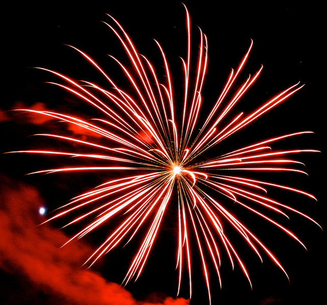 8. The words 'fireworks' and 'illegal' don't make sense in the same sentence.