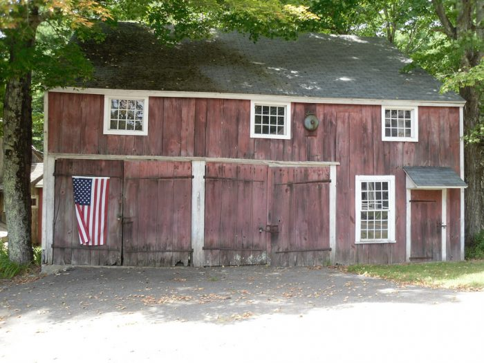3. A Colonial barn in Colebrook shows off its American pride in both design and decor.