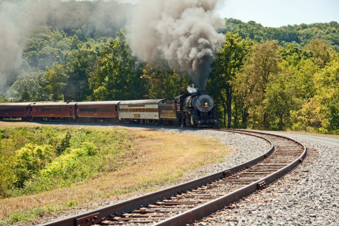 4. View the picturesque mountainside on the Western Maryland Scenic Railroad.