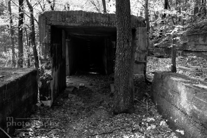 All that remains of the town of Le Hunt is the dilapidated cement factory, abandoned homes, an old cemetery, and other remnants that have since been reclaimed by nature.