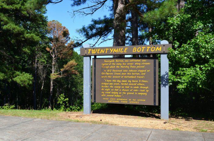 4. Twentymile Bottom Overlook, milepost 278.4 on the Natchez Trace Parkway