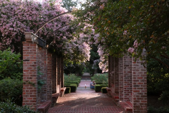 Many individuals use the gardens for weddings or other events.