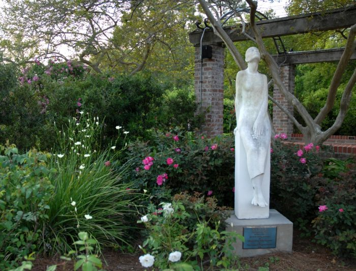 There are numerous sculptures in the gardens that are very beautiful.