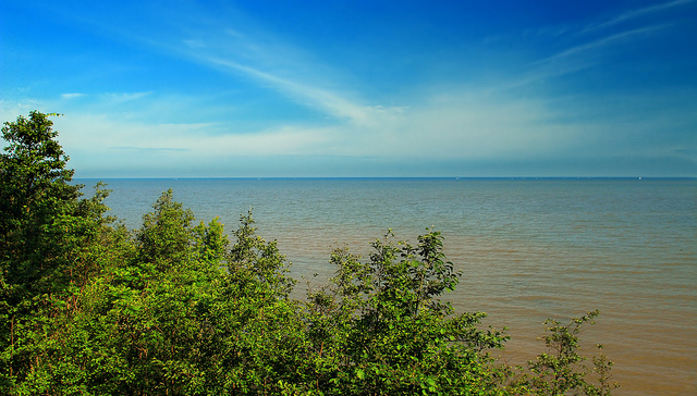 Today, visitors flock to the top of the 90 foot bluffs for amazing views of the shimmering water of Lake Erie and the endless sky.