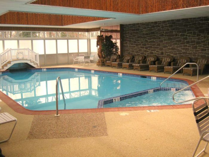 ...Take a dip in the indoor pool, if you're visiting after Labor Day.