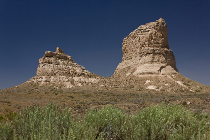 6. This is the point where the trip gets more visually interesting. You'll catch a view of Courthouse and Jail Rocks as you drive by. If you want to take a little detour, follow the signs to get up close to the formations.