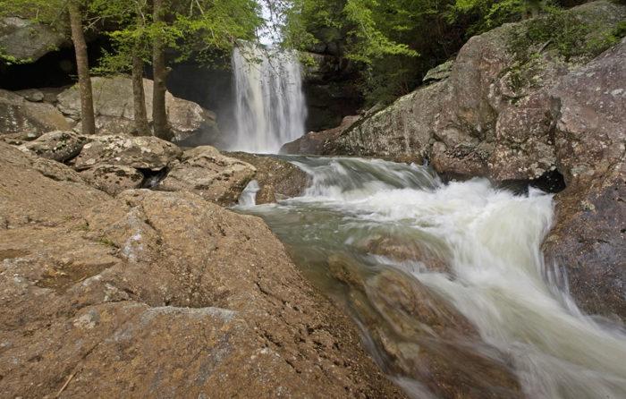 5. Behind the falls: