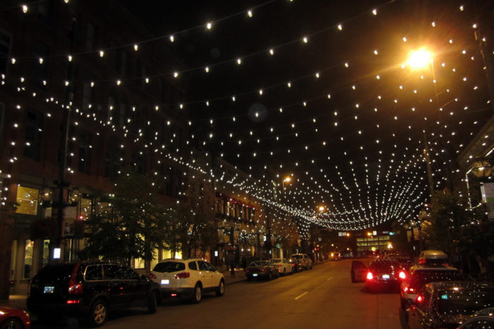 5. Loafed around under the canopy of lights at Larimer Square.