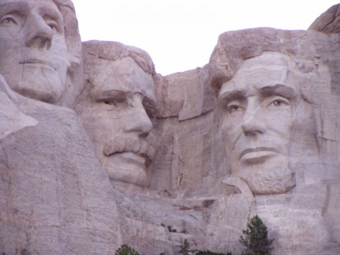 3. Most of the carving was done by strategically placed dynamite, then later jackhammers and chisels.