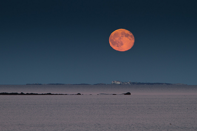 Moonrise over the Isles of Shoals