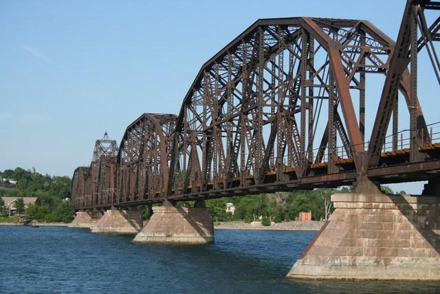 2. Railroad bridge over the Missouri River in Pierre, South Dakota