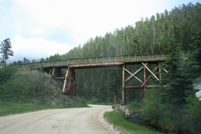 3. Wooden bridge in Keystone, South Dakota