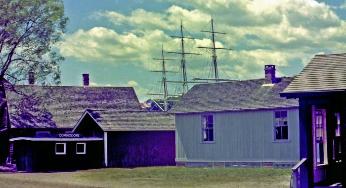 3. You can barely recognize the Mystic Seaport area in this image from 1973.