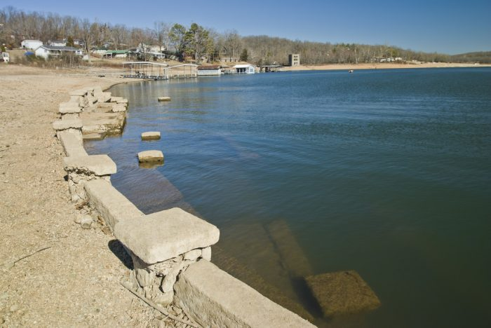 The submerged amphitheater is probably the most prominent underwater ruin  of Monte Ne.