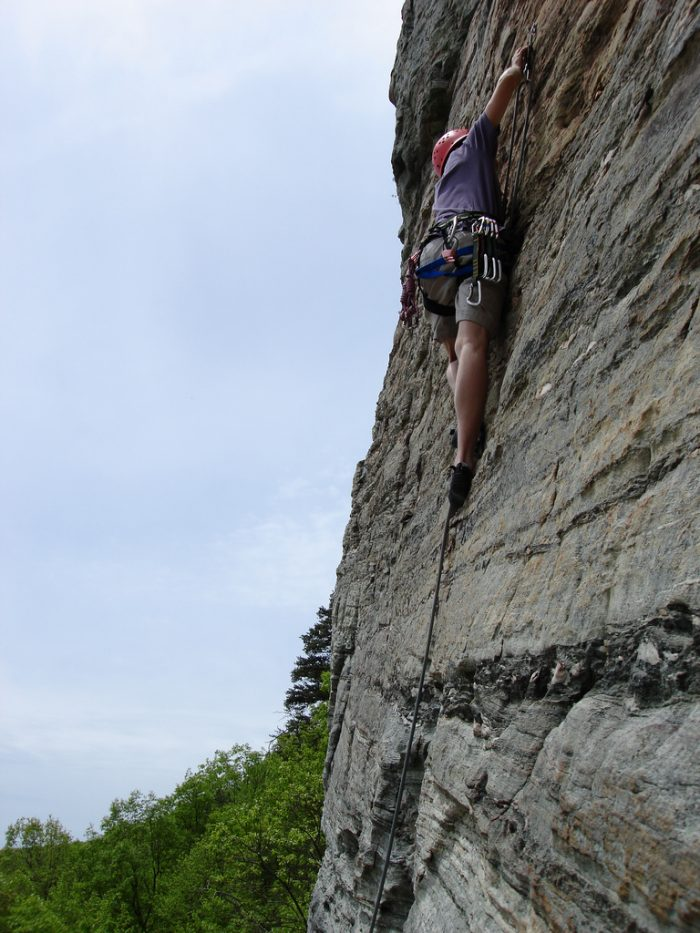 15. Rock climb on your mountain of choice.