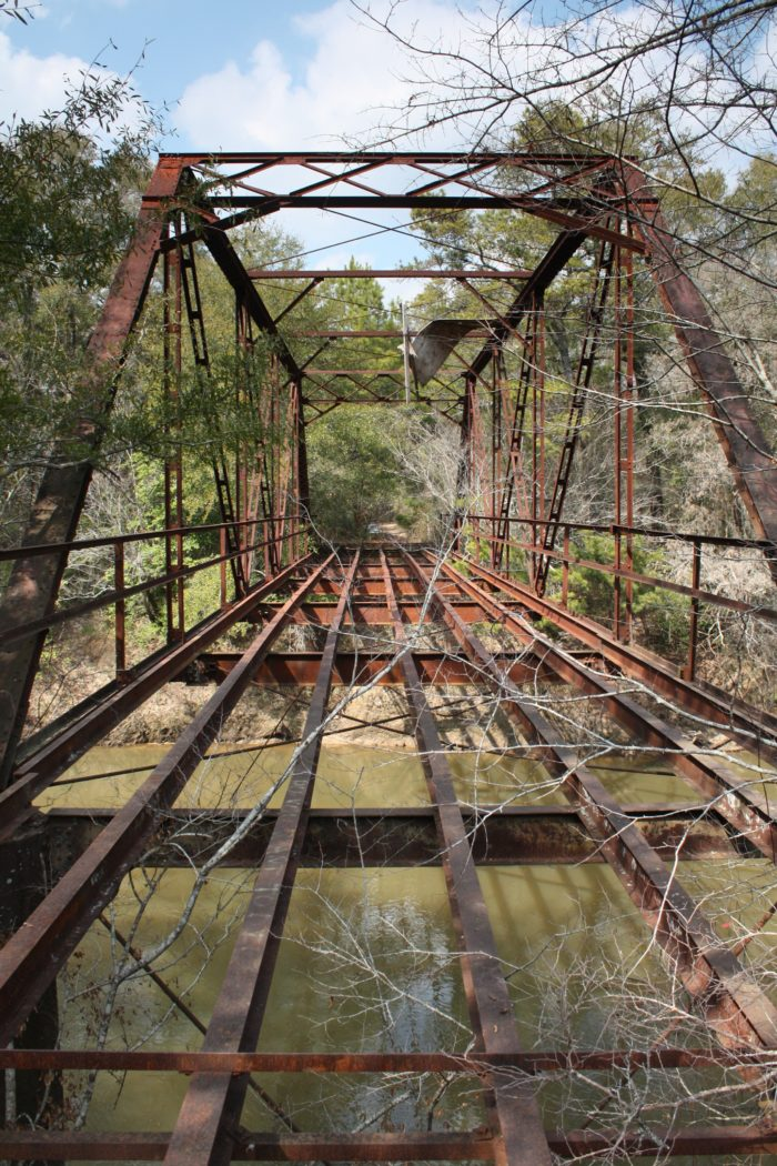 9. Roe Bridge, which spans over the Pea River in Coffee County, is now abandoned.
