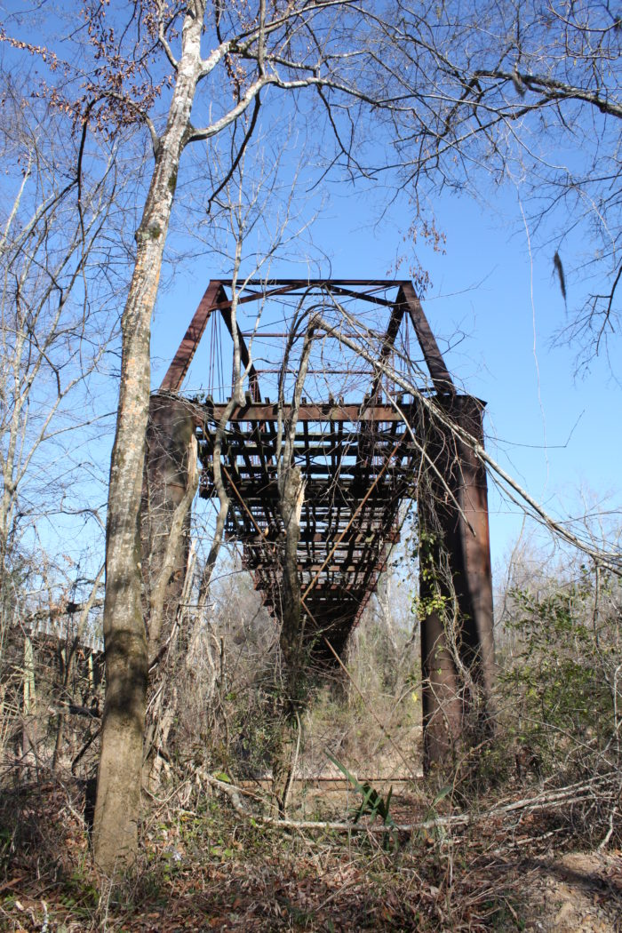 10. This abandoned and derelict bridge, which leads to nowhere, is located in Covington, Alabama.