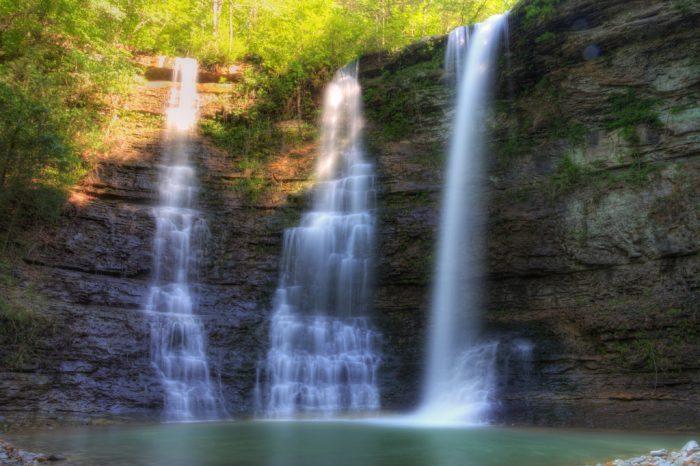 16. Hike to Triple (Twin) Falls near Harrison.