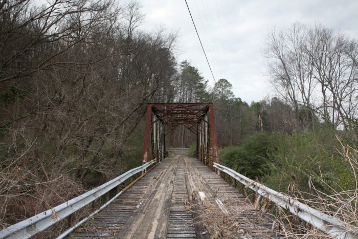 7. Here in Talladega County, this abandoned truss bridge spans over Talladega Creek.