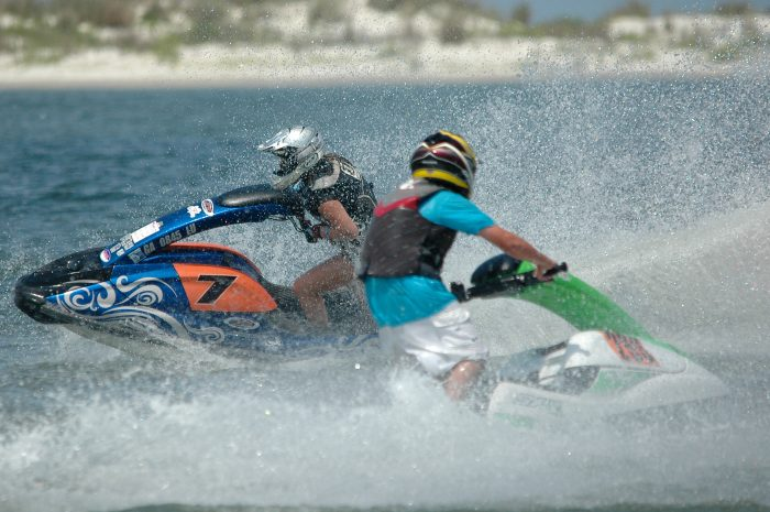 Another recreational activity many locals and tourists enjoy doing is jet skiing. Jet skiing is one of Dauphin Island's most popular watersports. If you don't have your own jet ski, no worries! There are places to rent them at each end of the island.