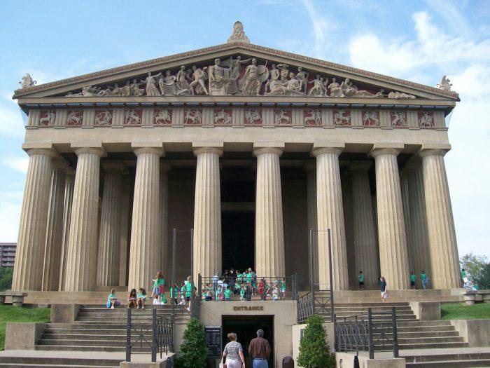 6. Take in a massive replica of the Greek Parthenon.
