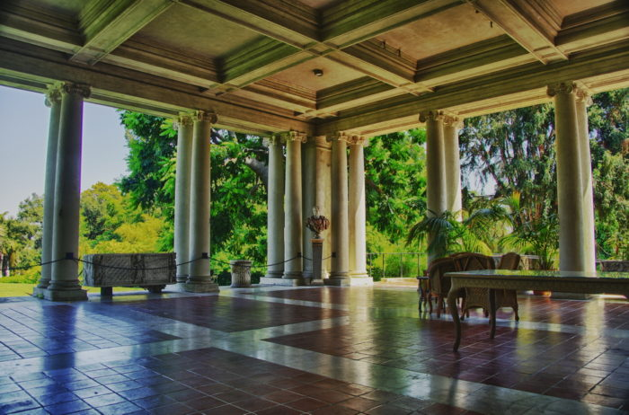 The exterior landscape isn't the only breathtaking space to tour at The Huntington.