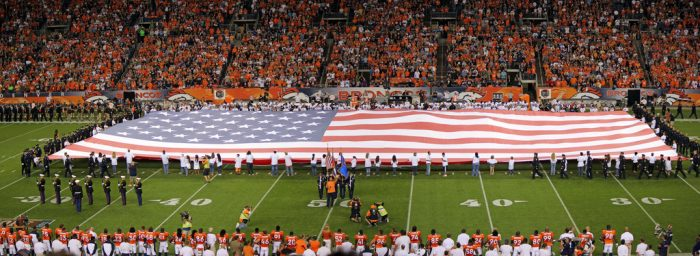7. God bless America, and God the Broncos!  (But not necessarily in that order.)