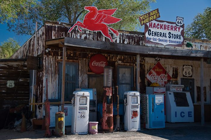 7. Hackberry General Store in the tiny town of Hackberry along Route 66 is another interesting find worthy of a visit!
