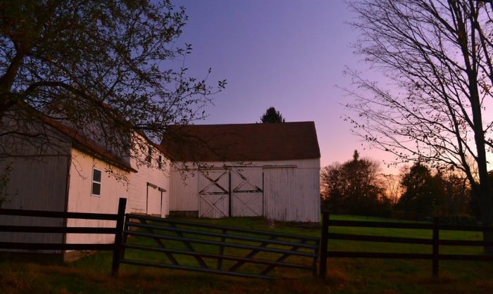 15. Bethany has a beautiful view of the sun rising over this charming old barn.