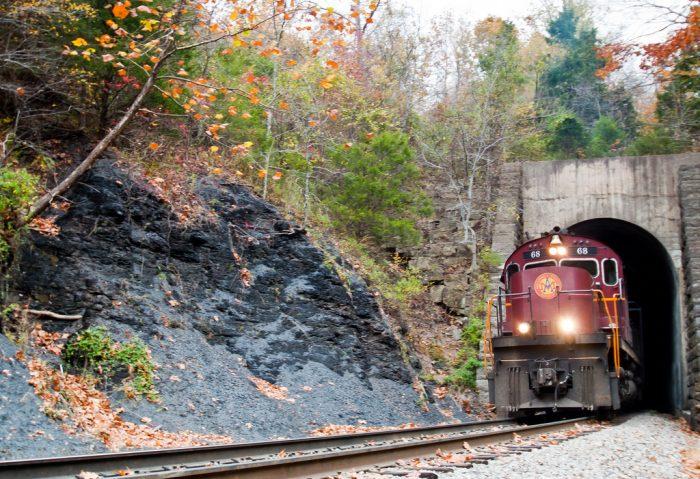 5. Take an excursion train through the Ozarks on the Arkansas & Missouri Railroad.