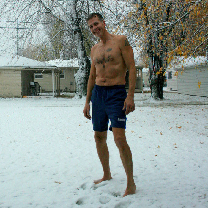 5. Hearing it's finally 50 degrees out and running outside in shorts, before realizing the forecast was wrong.