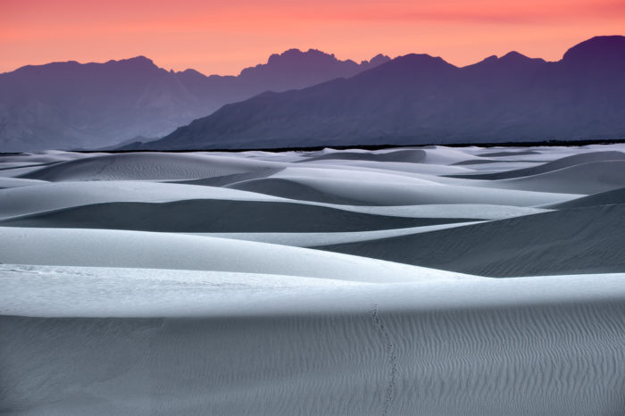 12. Take a sunset stroll across the largest gypsum dunefield on the planet. (White Sands)