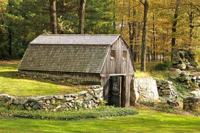 7. Old West Mountain Road in Ridgefield has a barn that appears to have been built right in to a hill.