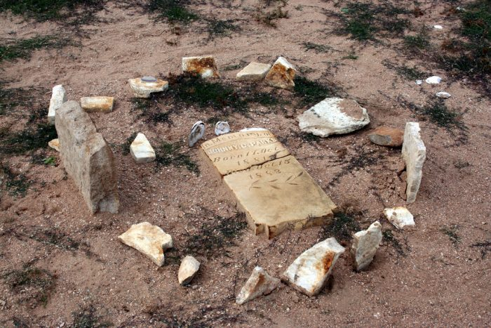 In periods of extreme drought, the water recedes enough to uncover graves, human skulls, rudimentary tools, and even a cemetery for freed slaves.