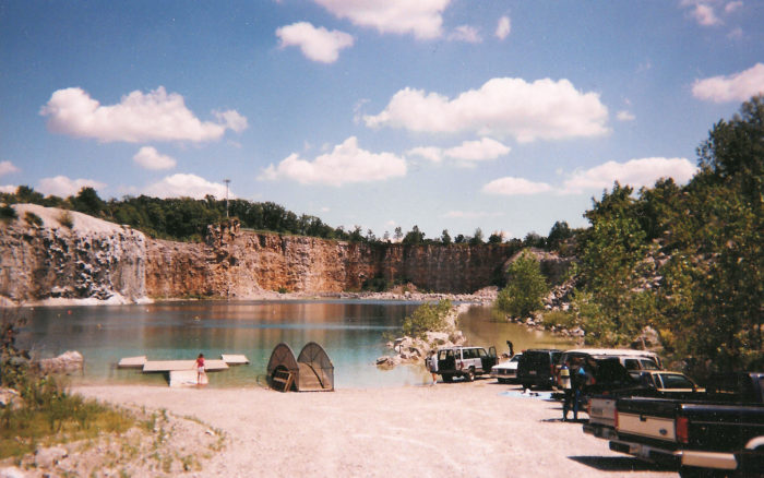 Beneath the placid waters of this flooded quarry, there lies one of the most deadly objects ever created.