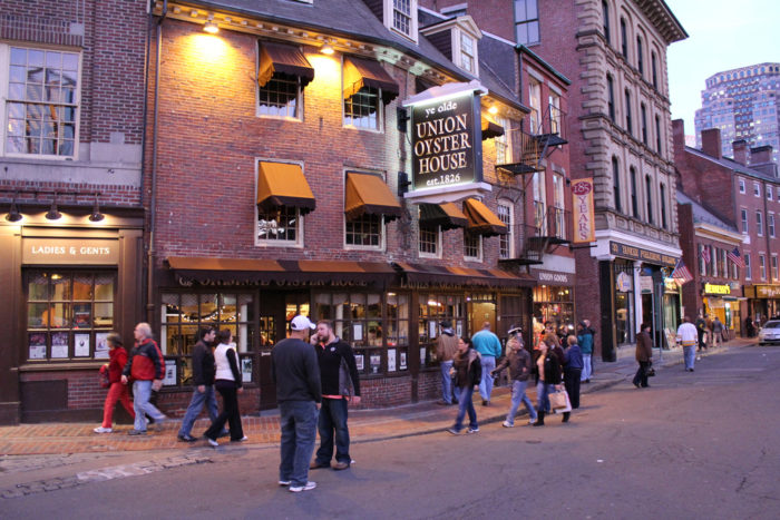 The Union Oyster House is the oldest continuously operating restaurant in America. It's actually a National Historic Landmark.