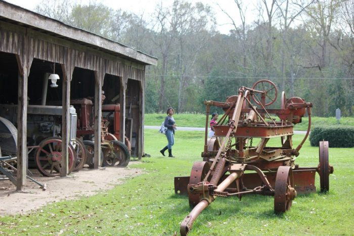 Many original farm implements are still found here.